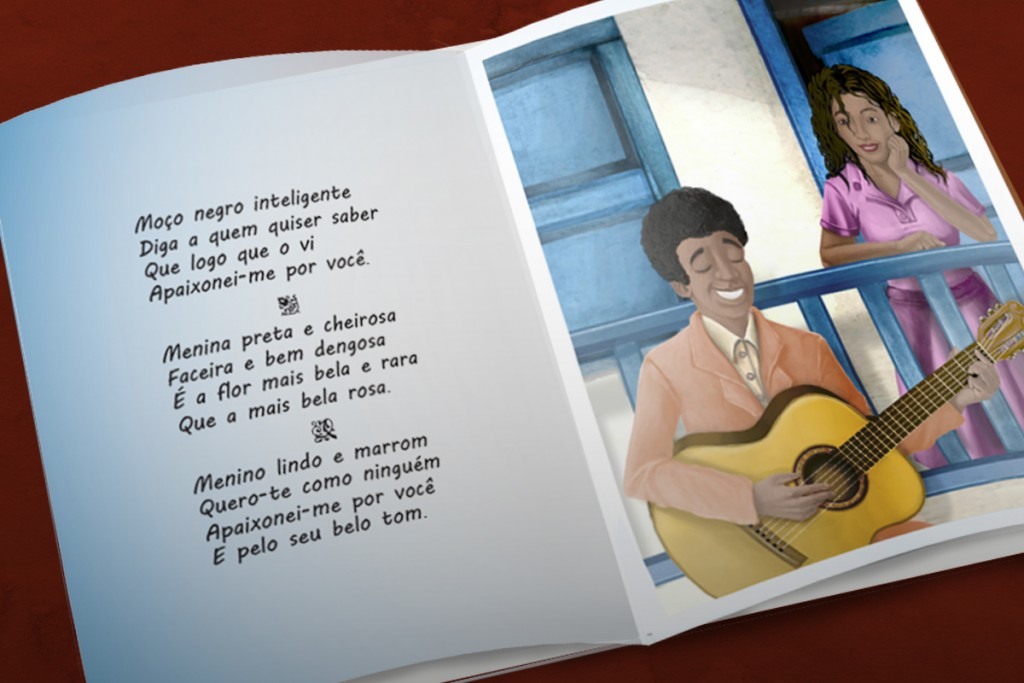 pagina livro infantil Trovinha das cores e amores